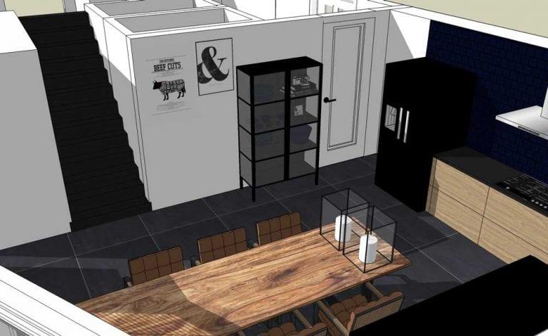 3d visualisatie industrieel interieur