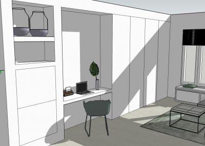 bureaukast 3d ontwerp