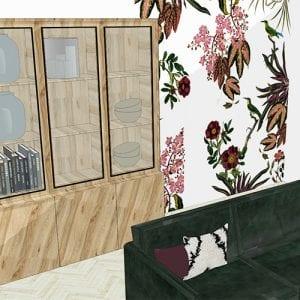 interieuradvies middels 3d tekening woonkamer